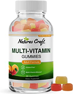 Multivitamin Gummies for Women and Men - Chewable Gummy Zinc Supplement Multi-Vitamin D3 Mineral Complex for Adults with B...