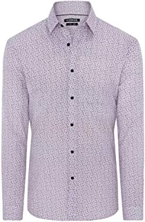 Connor Men's Luton Slim Shirt Long Sleeve Cotton Slim Tops Sizes XS-3XL Affordable Quality with Great Value