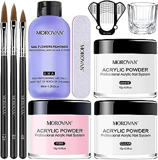 Morovan Acrylic Nail Kit Acrylic Powder and Professional Liquid Monomer set with Acrylic..