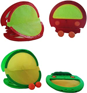 لعبة كرة الرمي والالتقاط (قبضة القفاز) لممارسة الرياضة في الهواء الطلق أحمر / أخضر ( قطعتان كومبو)