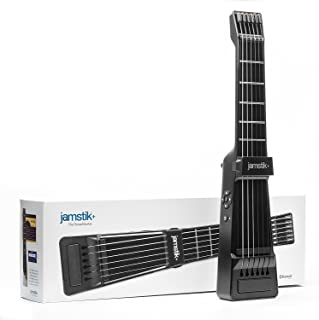 Jamstik+ Black Portable App Enabled MIDI Electric Guitar, for Beginners and Music Creators, iOS, Android & Mac Compatible, with Bluetooth Connectivity, Powered by Zivix (Renewed)
