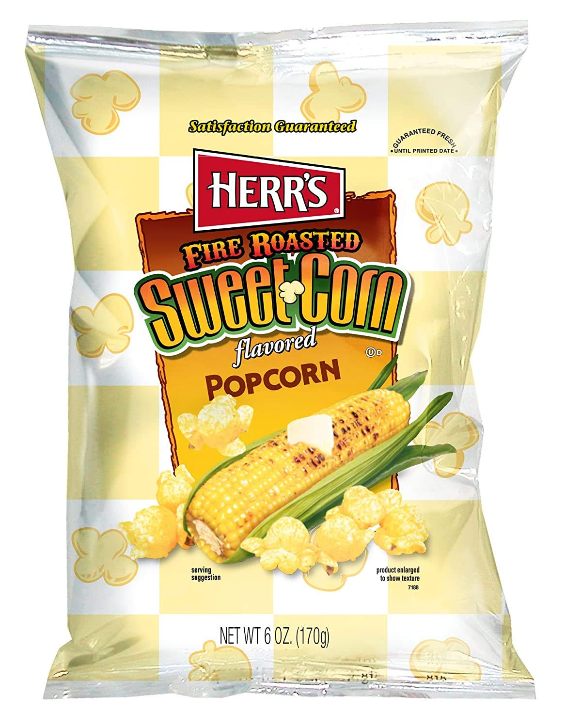 Herr's Fire Roasted Sweet New mail order Corn 6-Pack- 6 oz. Bags Popcorn Limited time cheap sale