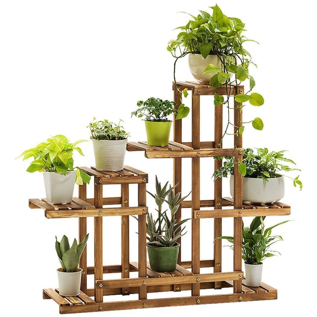 MultifuncióN Estante Almacenamiento Baldas Estantes for plantas con sostenedor de flores 5 estantes, Escalera de exhibición de macetas de madera for interiores, Organizador de almacenamiento multifunc: Amazon.es: Hogar