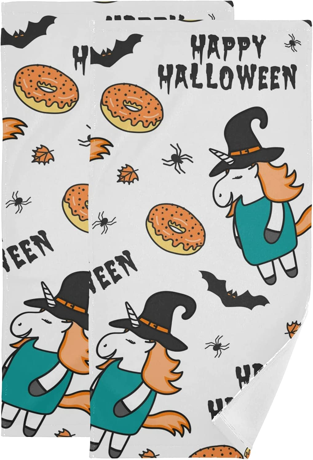 Bath Towels Set of 2 free At the price Hand Bathroom U Halloween Cotton for