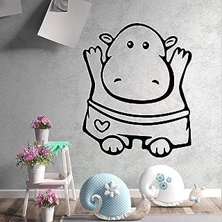 Vaca AnimalAdhesivo Vinilo Impermeable Adhesivo de pared Art Decal Diy Accesorios de decoración del hogar BLANCO L 43cm X 52cm