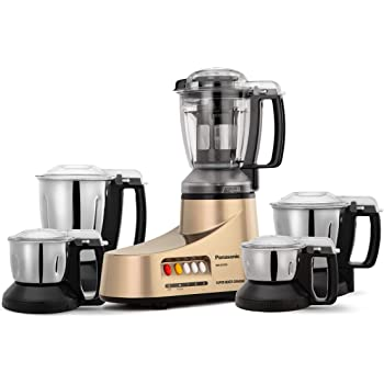 Panasonic AC MX-AC555 Mixer Grinder, 550W, 5 Jars (Gold)