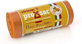 VIROSAC Rotolo 15 Sacchi Profumati di Arancia, Nylon, 52x0.1x65 cm