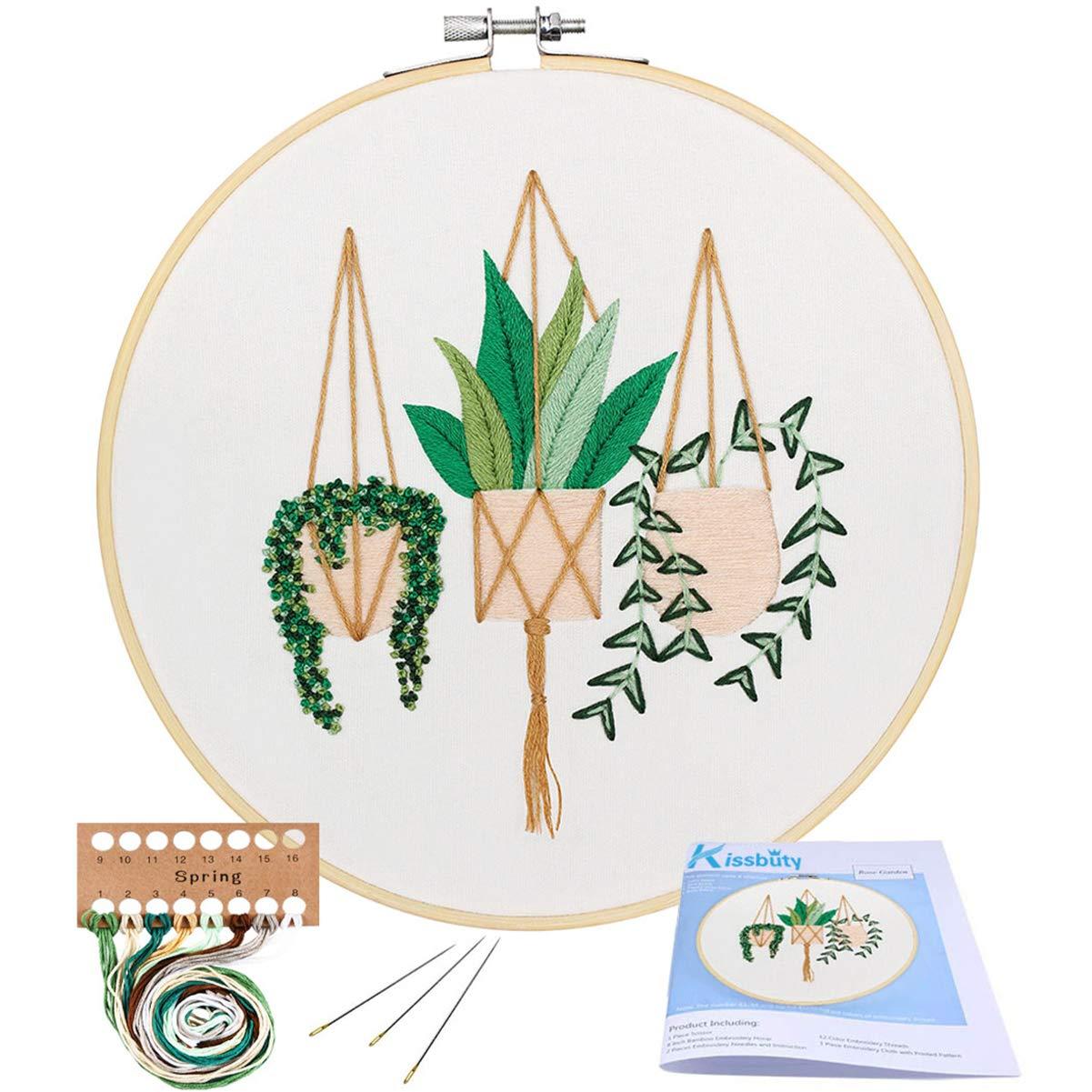 Embroidery Starter Kissbuty Including Epipremnum