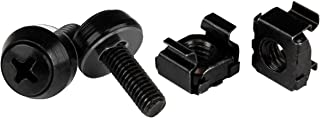 StarTech.com M5 x 12mm Screws and Cage Nuts - 100 Pack - M5 Mounting Screws and Cage Nuts for Server Rack and Cabinet - Black