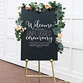 Vinyl Wall Art Decal - Welcome to Our Unplugged Ceremony - 22
