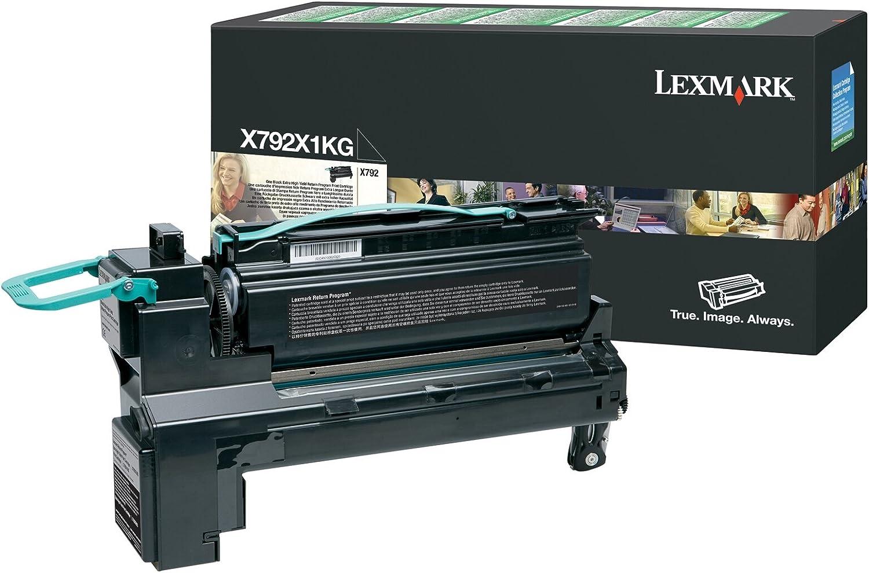 Lexmark, LEXX792X1KG, X792X1CG/KG/MG/YG Toner Cartridges, 1 Each