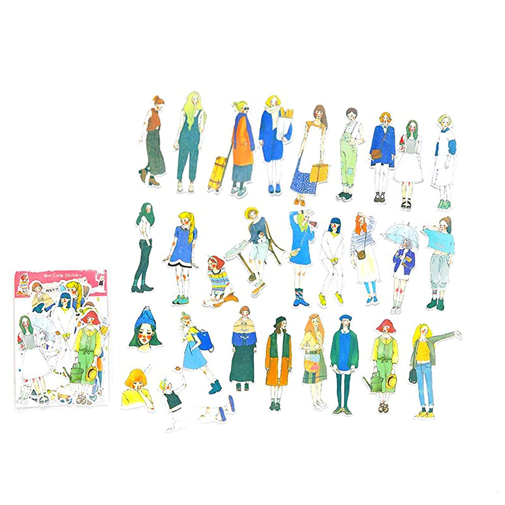DIY Decorative Sticker, Sweet Girl Sticker Washi Sticker for Diary Album Notebook Scrapbook Life Log Cute Stationery Sticker, Pack of 49 pc (5#)