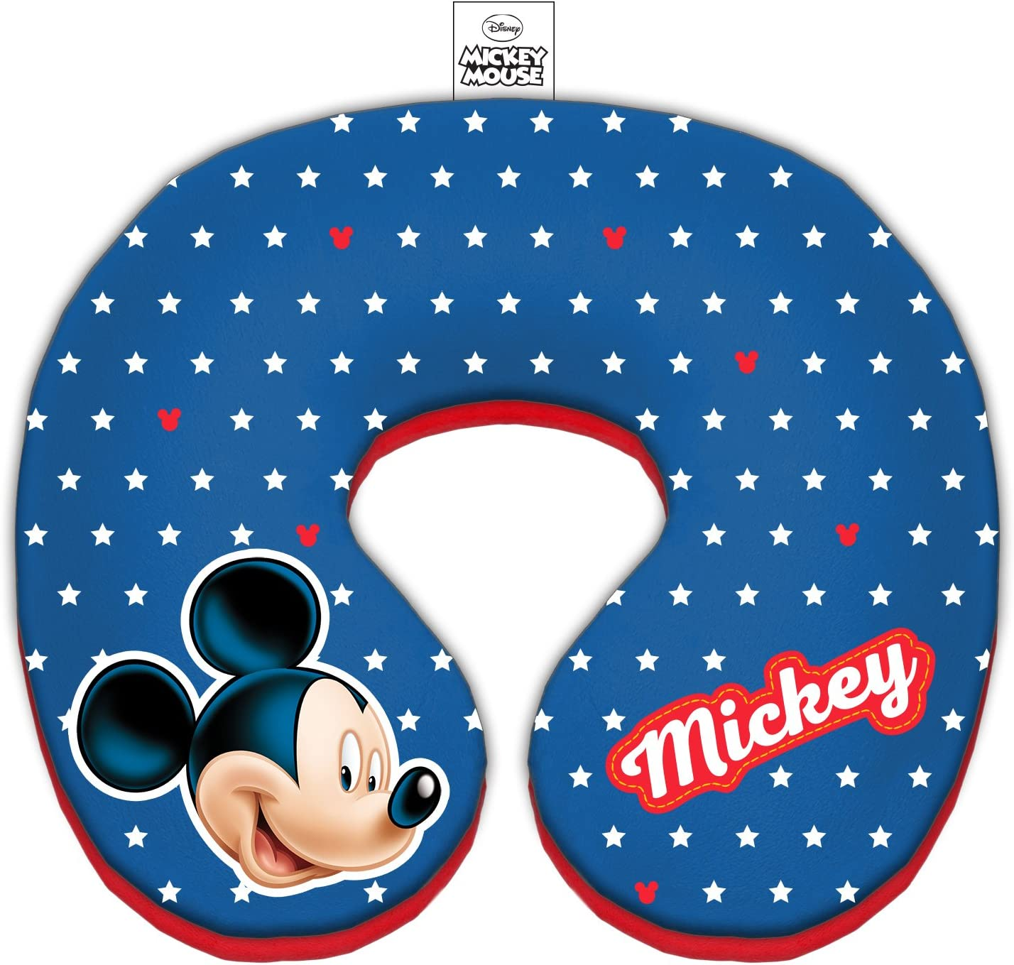Disney Travel Neck Pillow for Children, Diameter 21 cm / 8.26 inch, with Mickey Mouse from Animated Movie Series Characters