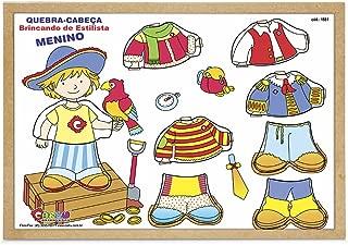 Quebra-Cabeça Menino Estilista Carlu Brinquedos