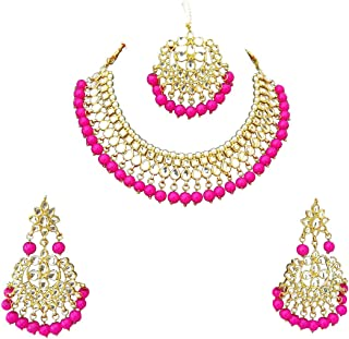 Retailbees Meena Kundan Neckalce Ethnic Bridal Wedding Gold Plated Jewelry For Women