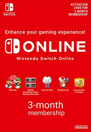Nintendo Switch Online Membership - 3 Months   Switch Download Code