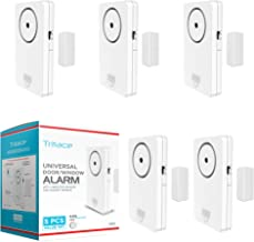 Tritace Universal Door/Window Alarm with Vibration and Magnet Sensor - Pool Door Alarm with Loud 120db Ring - Security Sys...