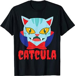 Catcula Cat Vampire Dracula Vampirina Halloween Costume T-Shirt