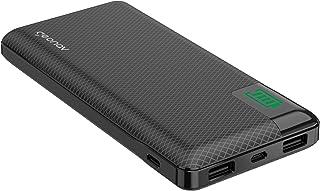 Carregador Portátil Universal 16.000mAh, 2 portas USB + 1 porta USB-C, Led Indicador de bateria, Preto, PB16KBK,Geonav