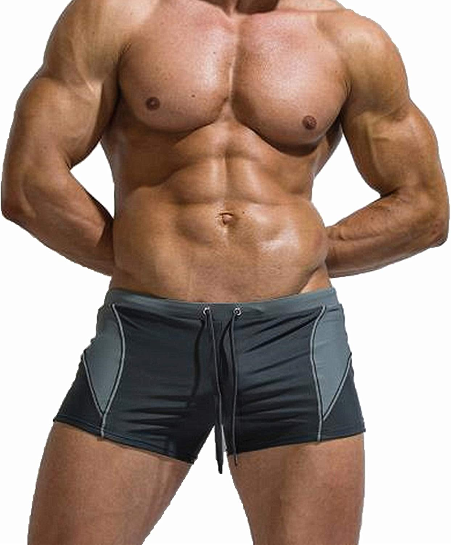 Men's Swim Tights Quick Dry Brief Shorts Stylish Swimwear Boxer Swimming Briefs