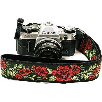 Correa de cámara con rosas para cámaras DSLR – Elegante correa ...