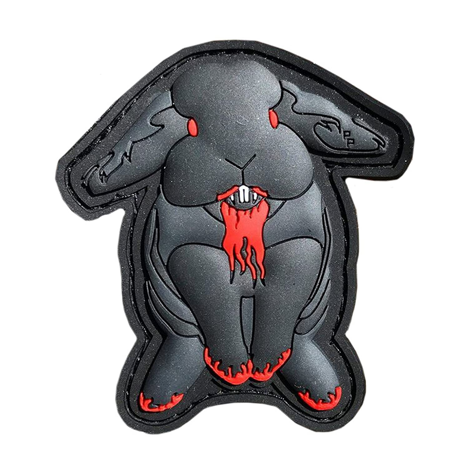 Patch Panel Evil Bunny PVC Morale Patch - with Hook and Loop Backing