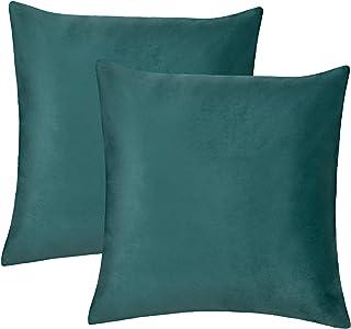 WOLTU 2-częściowy zestaw poszewek na poduszkę, aksamitna, miękka, poduszka na sofę, poduszka dekoracyjna, poszewka z ukryt...