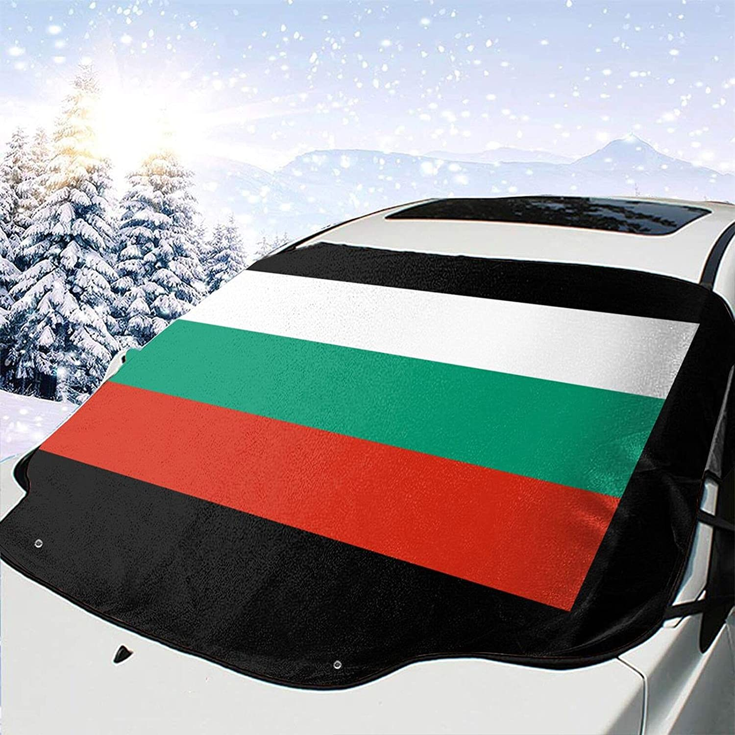 Flag safety of Bulgaria Windshield Snow Cover Visor Ice Removal Max 81% OFF P Wiper
