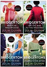 Julia Quinn Bridgerton Family Series 6-9: 4 Collection Books Set (When He Was Wicked, It's In His Kiss, On The Way To The ...