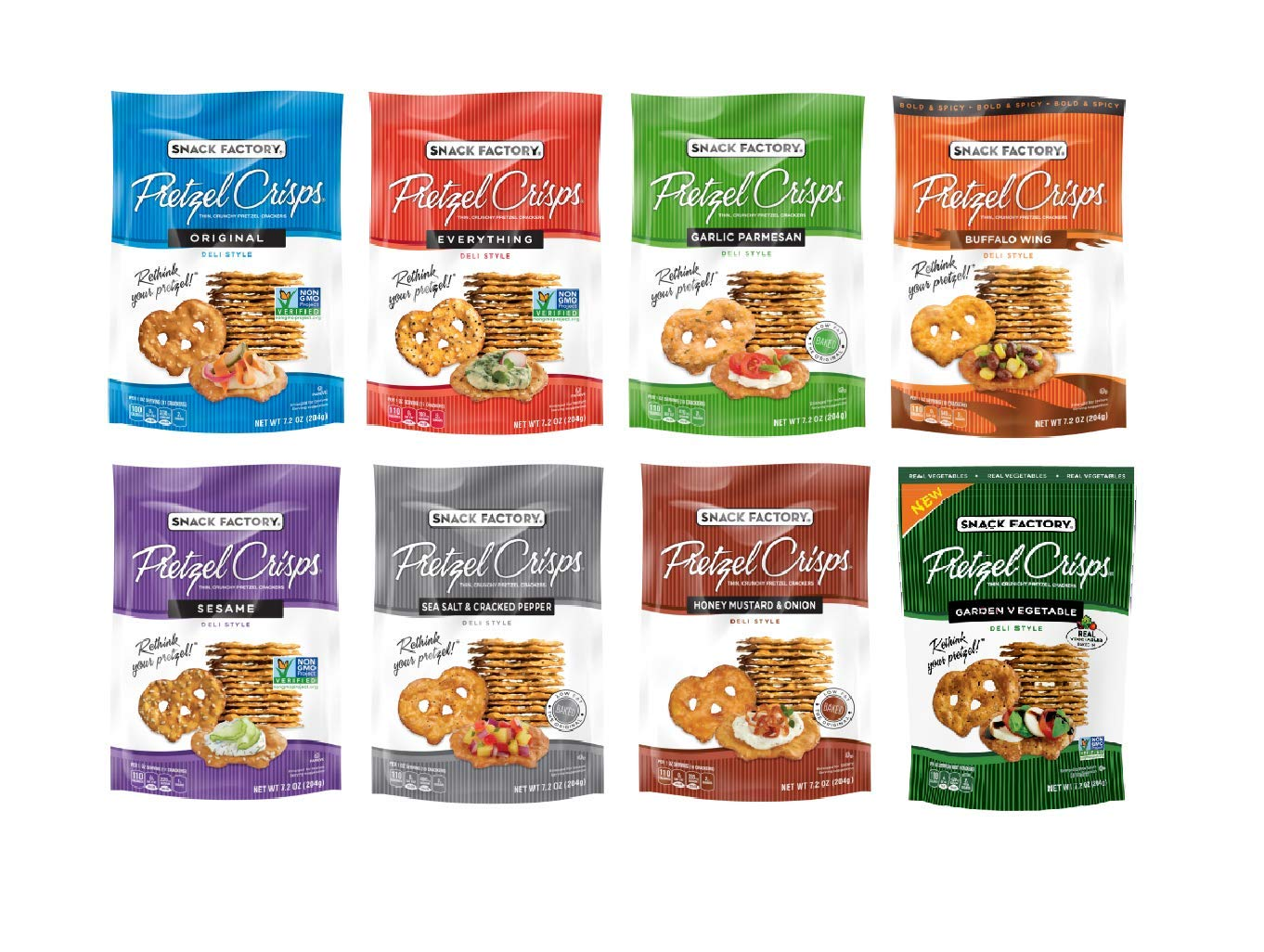 Over item handling ☆ Snack Factory Deli Style Crunchy 8 Crisps Cracker Flavo Spring new work one after another Pretzel