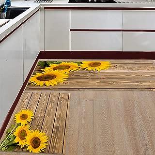 Best sunflower kitchen rugs sale Reviews