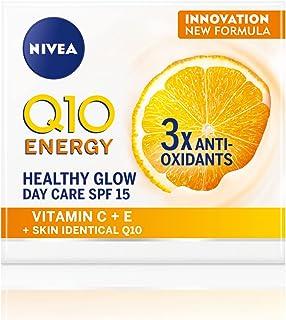 NIVEA Q10 Plus C Anti-Wrinkle + Energy Day Face Cream, Vitamin C, 50ml