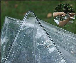 LIANGJUN transparant dekzeil, transparant zacht PVC waterdicht dekzeil, zware tent voor balkon buiten terras, maataanpassi...
