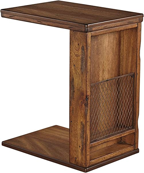 Ashley Furniture Signature Design Chair Side End Table Vintage Brown