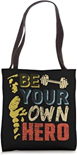 Be Your Own Hero Powerlifting Weight Lifting Coach Gift Tote Bag