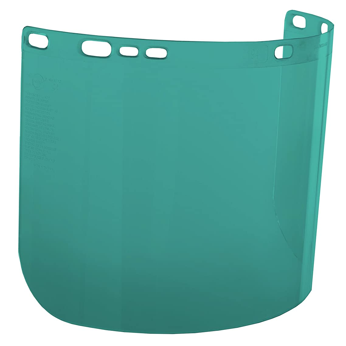 "Jackson Safety F20 High Impact Face Shield (29100), Polycarbonate, 8"" x 15.5"" x 0.04"", Dark Green, Face Protection, Unbound, 36 Shields / Case fizwxfpy01698801"