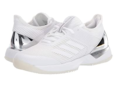 adidas Adizero Ubersonic 3 (Footwear White/Footwear White/Matte Silver) Women