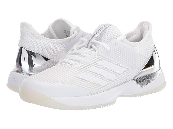 adidas  Adizero Ubersonic 3 (Footwear White/Footwear White/Matte Silver) Womens Tennis Shoes