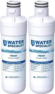 Waterspecialist MDJ64844601 Refrigerator Water Filter, Replacement for LG LT1000P, LT 1000P, LT1000PC, LT1000PCS, LFXC24796S, LSFXC2496D, ADQ74793501, ADQ74793502, Kenmore 46-9980, 9980 (Pack of 2)