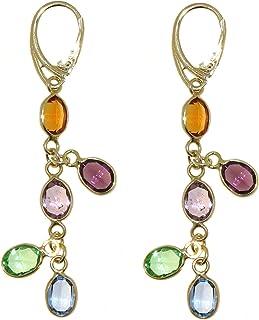Linea Italia Gioielli collezione Luccico - Orecchini da Donna in Argento 925 Placcati oro 18KT e Swarovski® Elements - Mad...