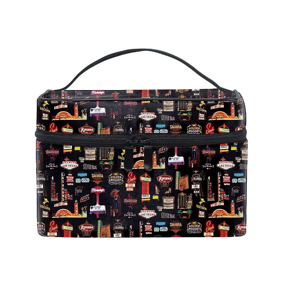 幸福甘やかす怠便携式ラスベガス メイクボックス 收納抜群 大容量 可愛い 化粧バッグ 旅行
