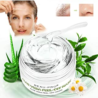 Blackhead Remover Mask Peel Off Face Masks Aloe Vera with Tea Tree Oil Mask Acne Killer Deep Cleaning Crystal Mask 100% Pure and Nature Exfoliator Mask Great for Moisture Soothing