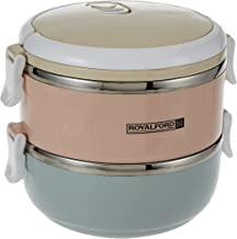 Royalford 1400 ml Two Layer Round Lunch Box, RF9294