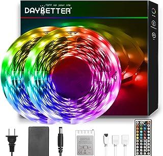 DAYBETTER Led Strip Lights 50ft, RGB Light Strip Kits...