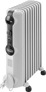 DeLonghi TRRS 0920 Calefactor, Radiador, Interior, Giratorio, ajustes de termostato, 9 elementos, 2000 W, 900 W, blanco