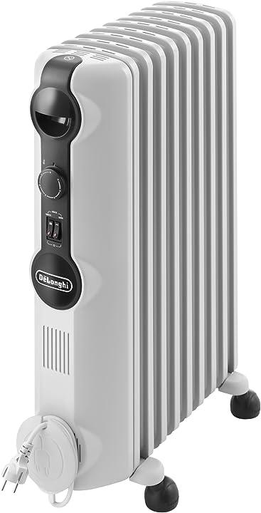 Radiatore ad olio elettrico, 9 elementi, 2000w, 3 livelli di potenza, bianco - de`longhi trrs0920