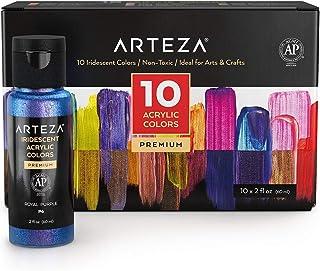 Arteza Set de pintura acrílica brillante de alta densidad,