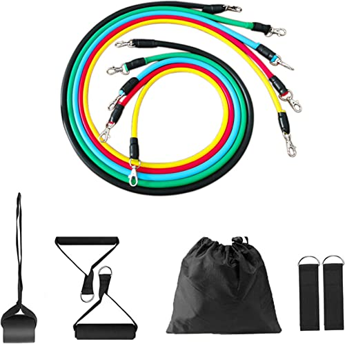 labworkauto Resistance Bands Set with Handles Door Anchor Ankle Straps Heavy Resistance