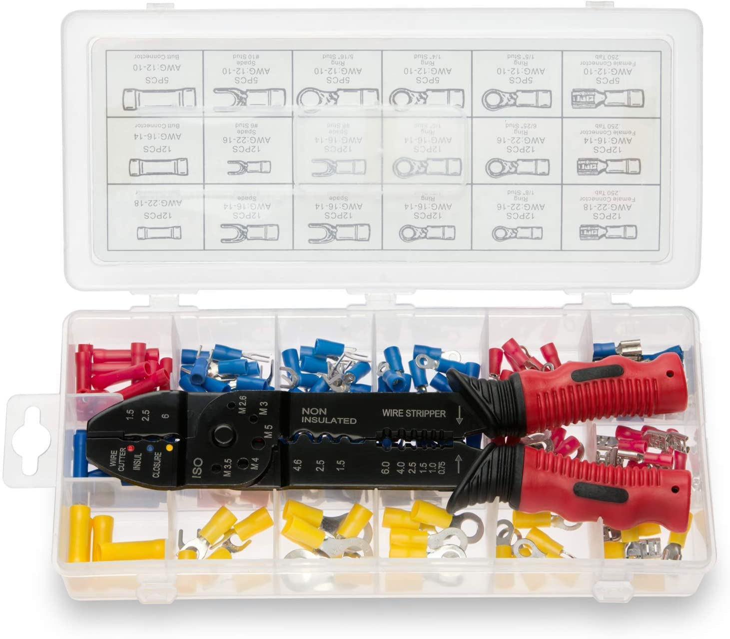 Neiko 50413A Insulated Wire Connectors and Assortment Nashville-Davidson Mall Indianapolis Mall Terminals