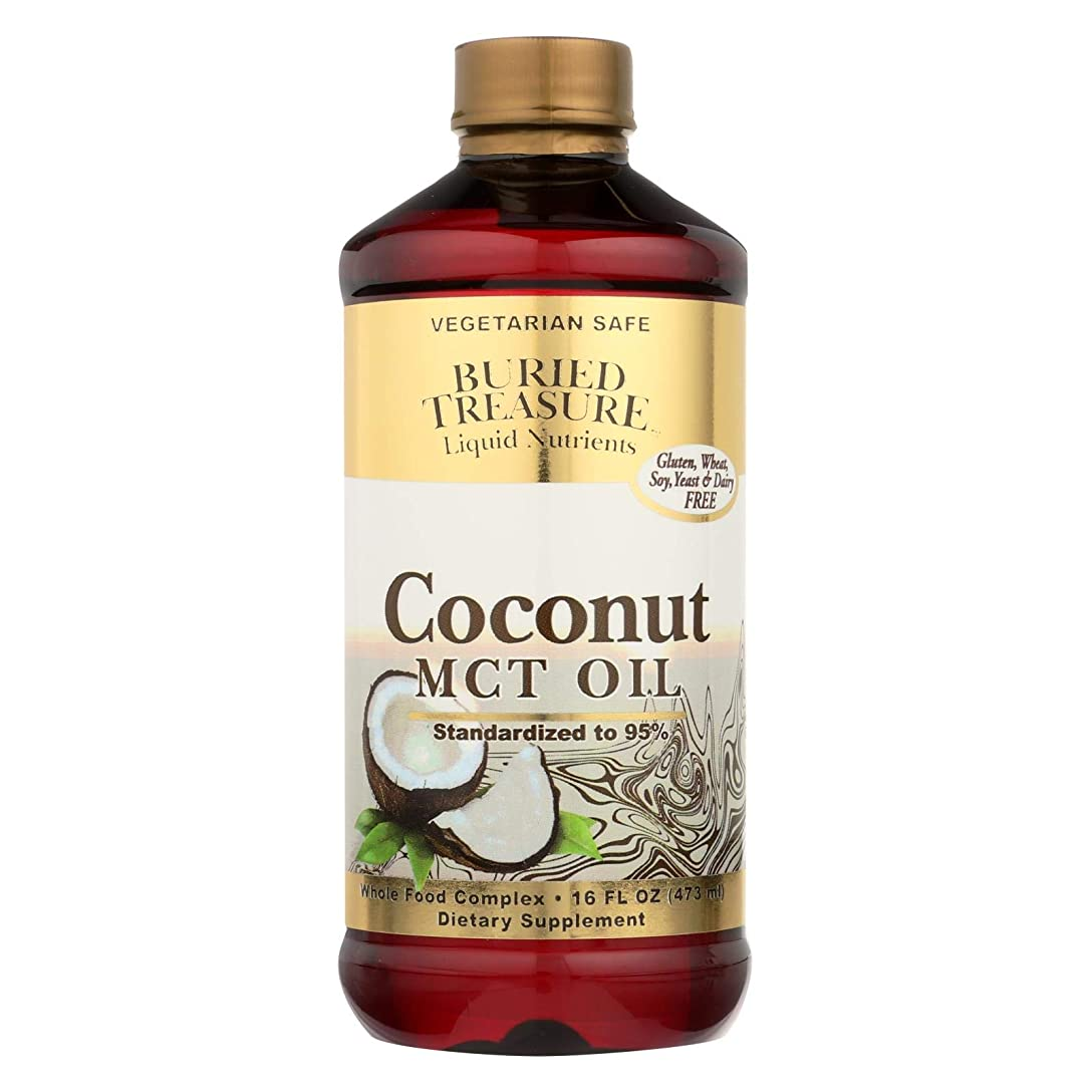 緩やかな賢明な一部海外直送品Coconut Oil MCT, 16 oz by Buried Treasure